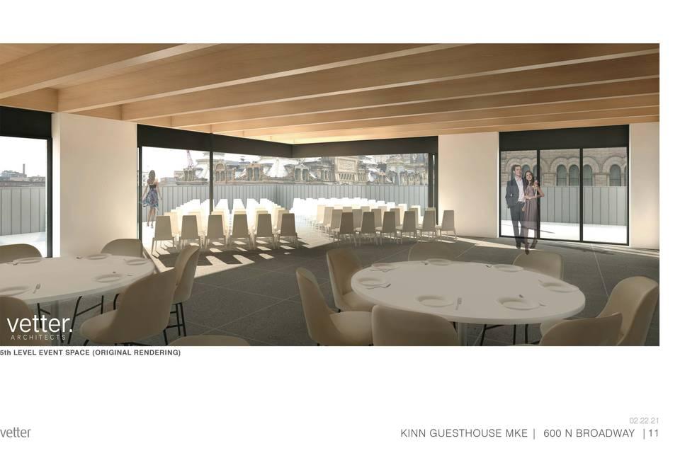 Retractable rooftoop space