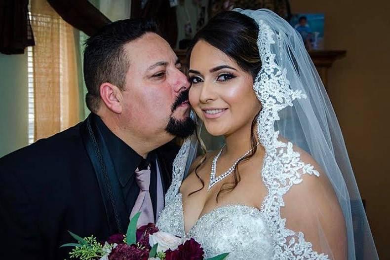 A kiss on the cheek