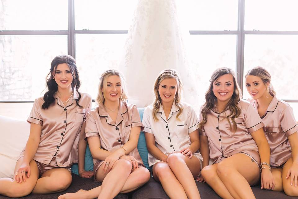 Bridal party in the VIP Suite