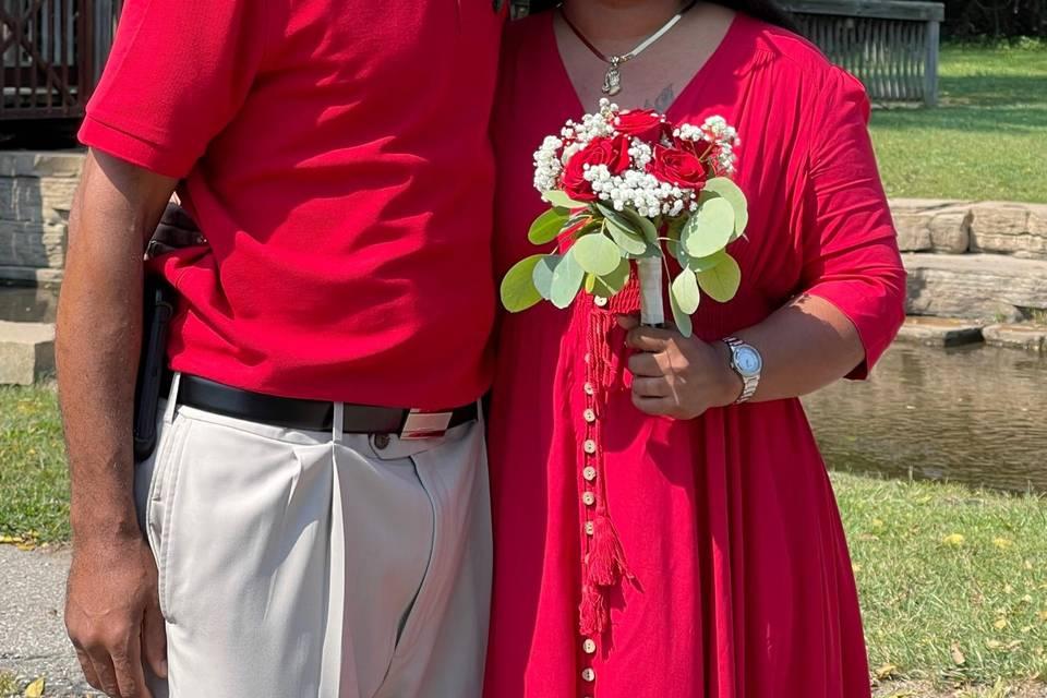Family wedding in Saline