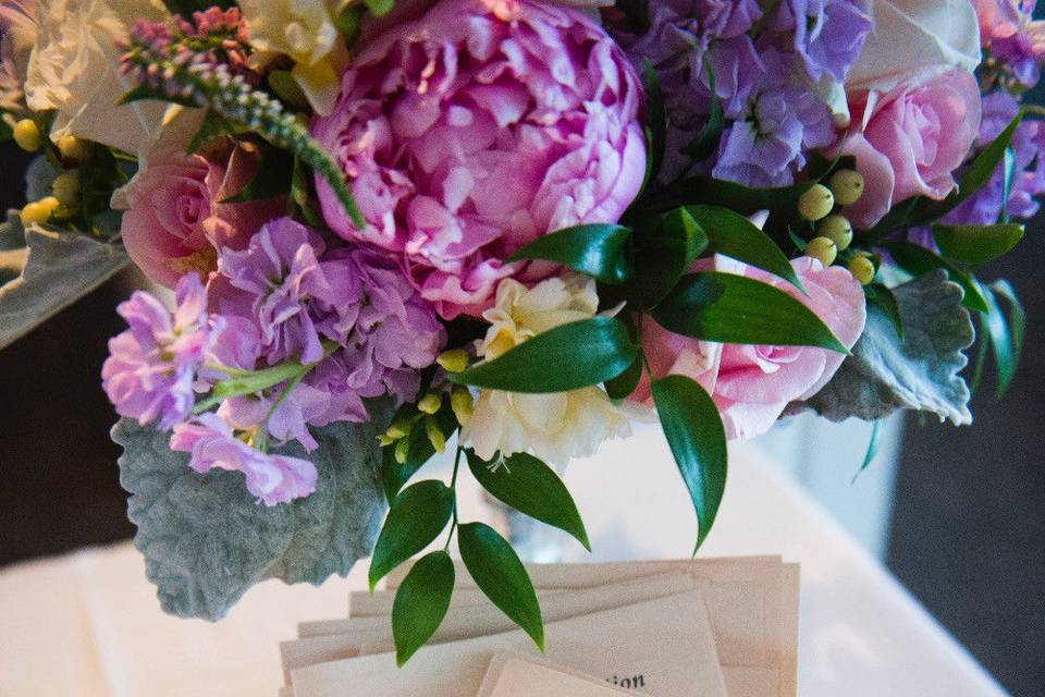 Pink and purple arrangement