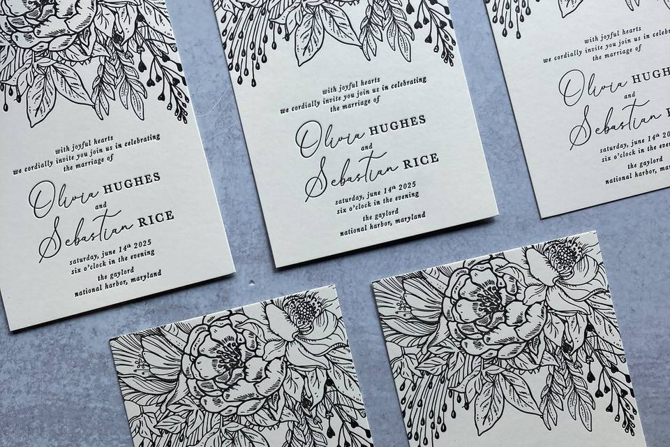 KSH Letterpress Invitations