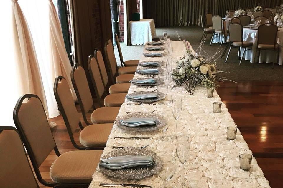 Long table set up