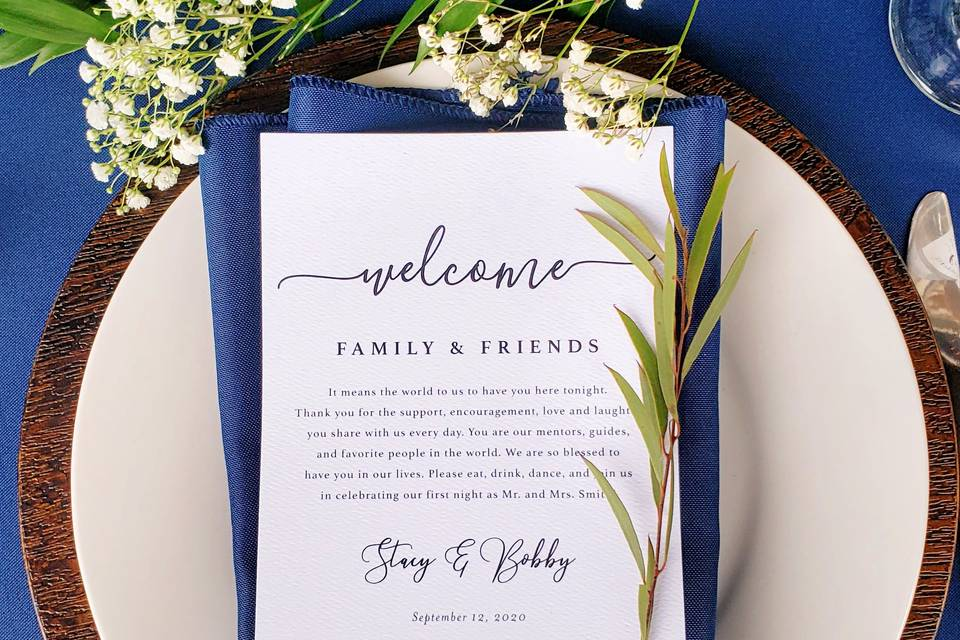 Navy place setting