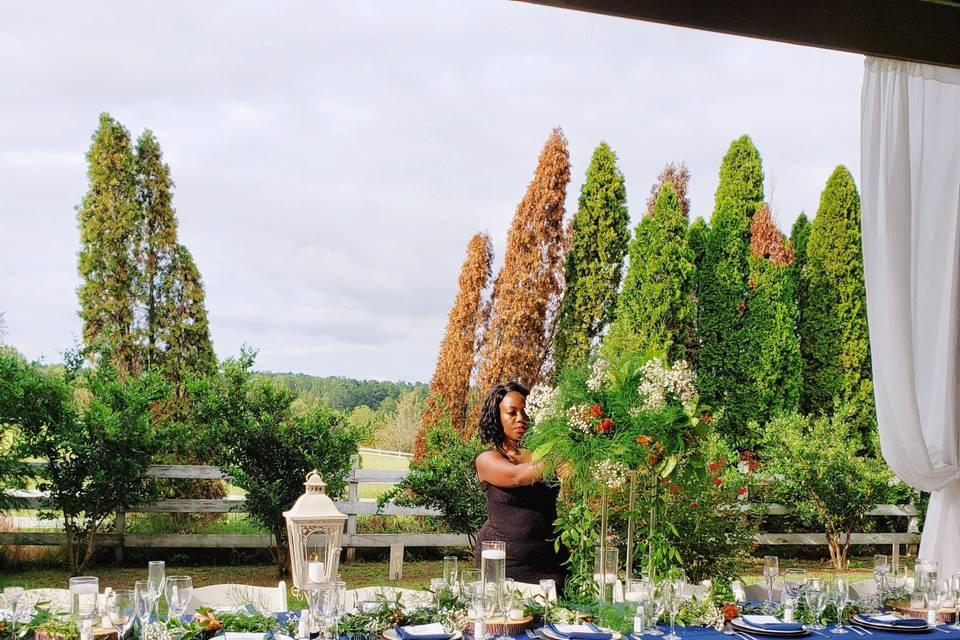 Outdoor farm wedding
