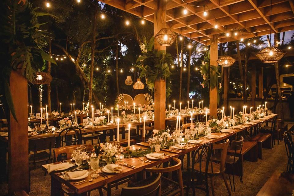 Tulum Wedding Reception Dinner