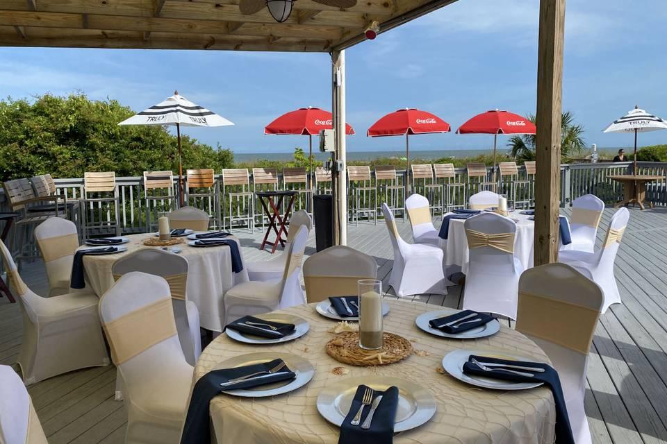 Beach Bar Wedding Reception