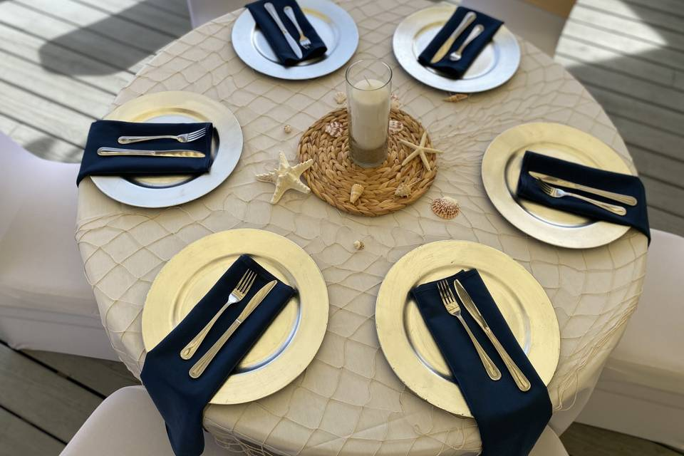 Under The Sea Table Setting
