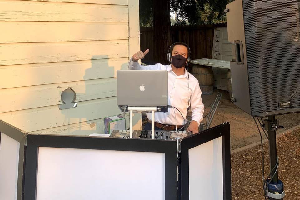 The masked DJ