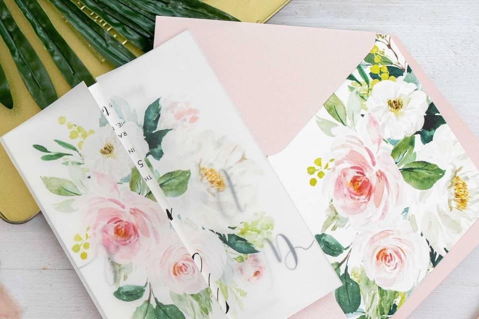 Floral vellum wrap