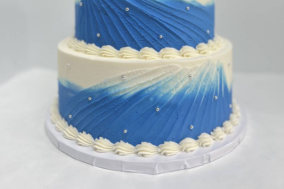 Blue textured icing