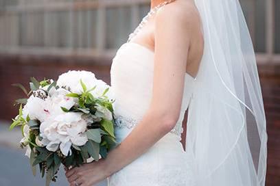 Blooming wedding bride
