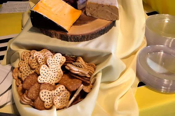 Cheese and cracker station