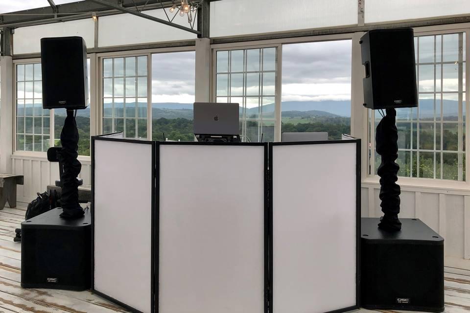 DJ Setup for Wedding Reception
