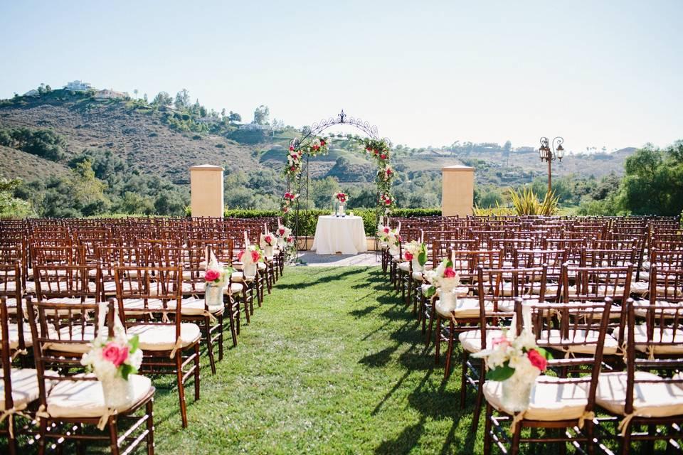 Ceremony setup and view