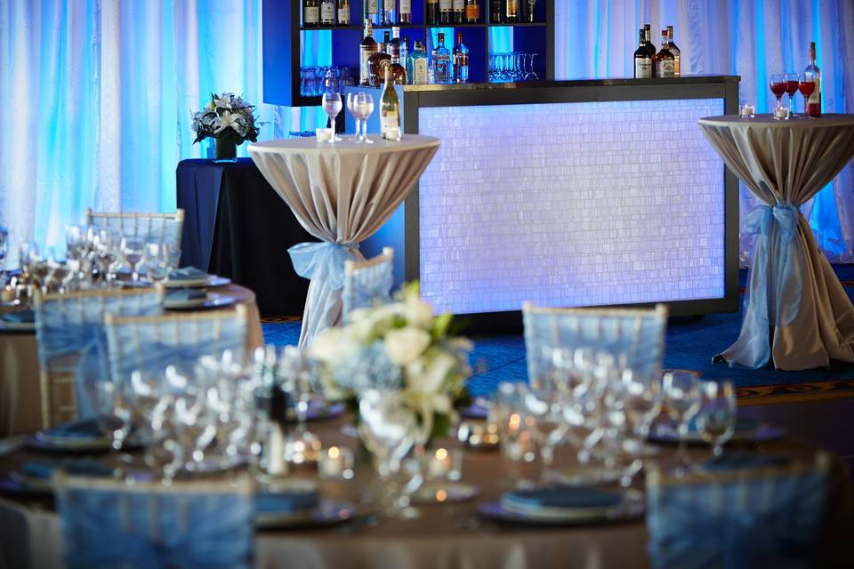 Reception with bar area