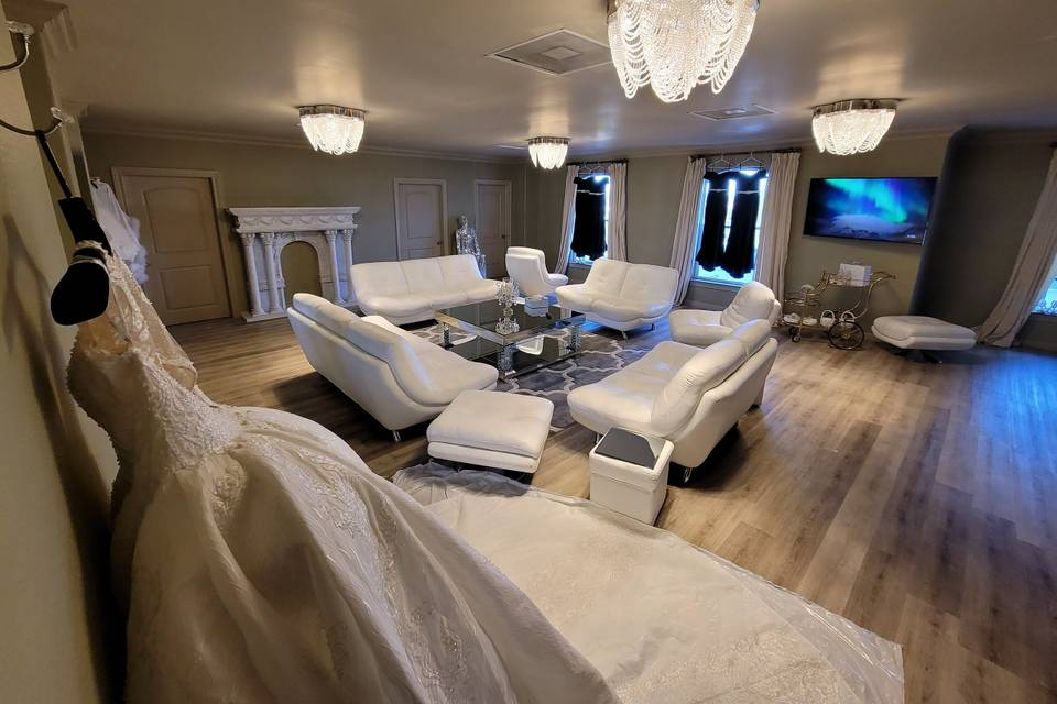 A side of our bridal suite