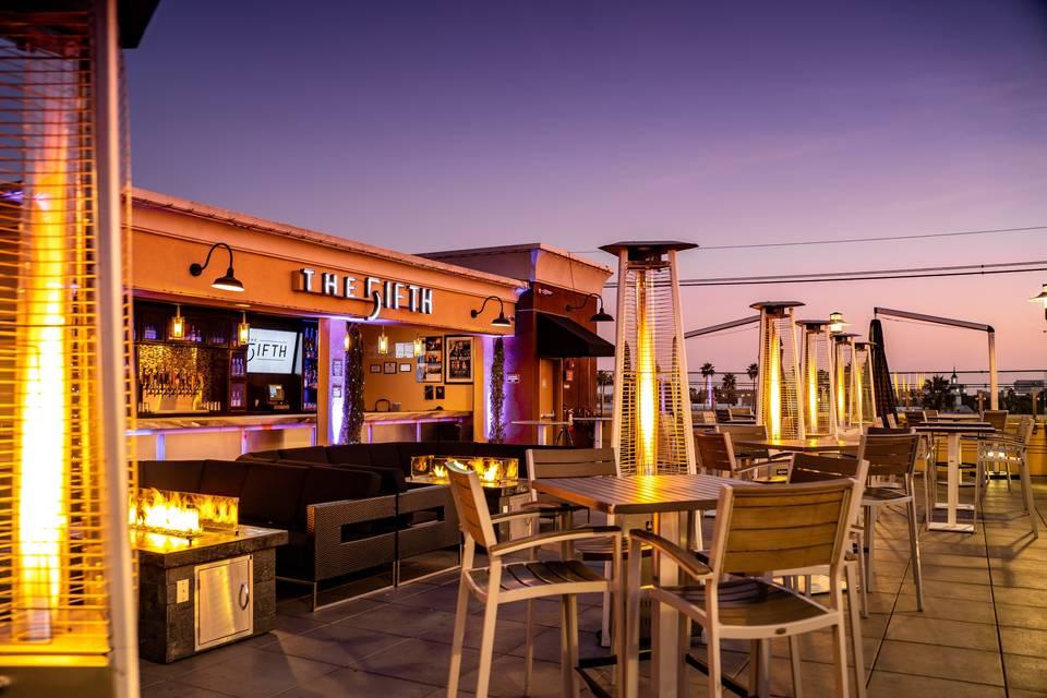 A cocktail venue