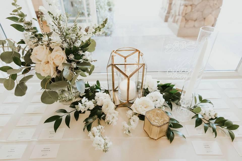 Elegant table locator display
