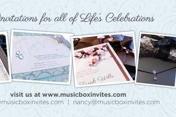 Music Box Invites