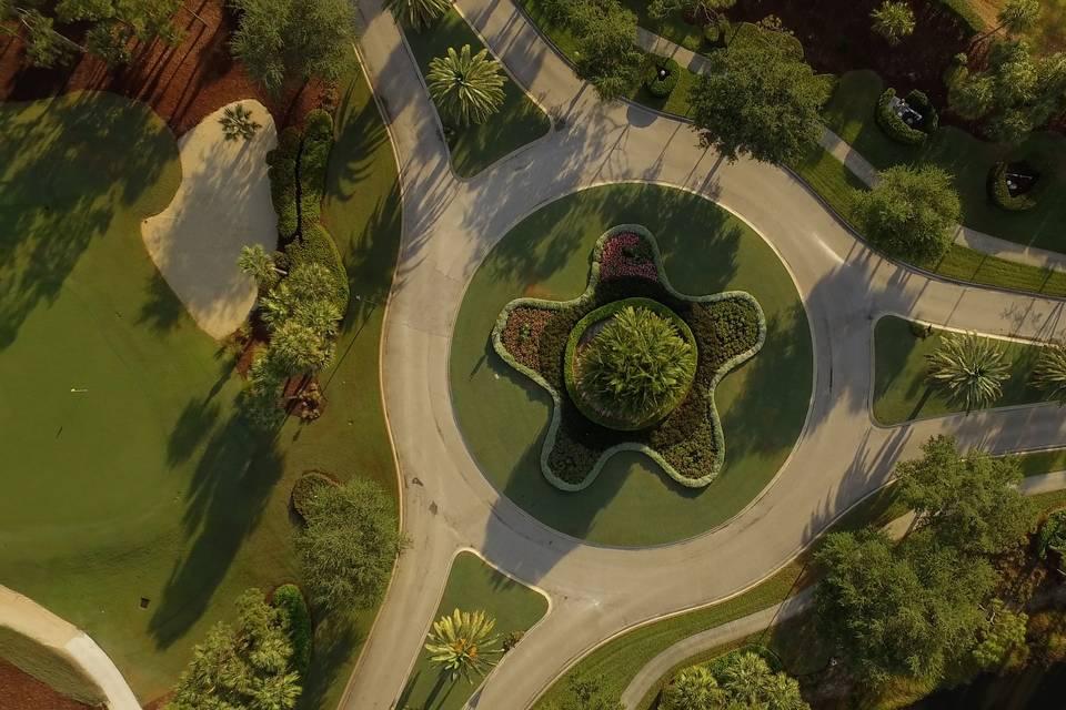 Drone Shot Roundabout