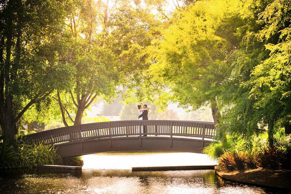 Couple on a bridge