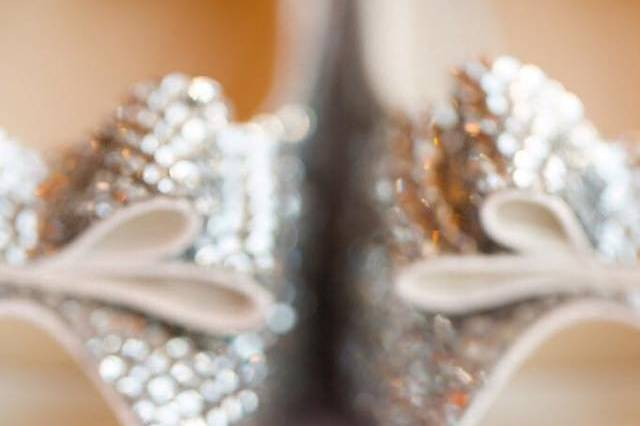 Wedding rings and bridal shoes