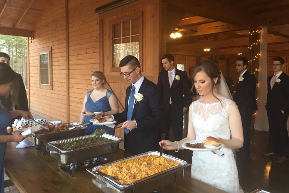 The reception meal