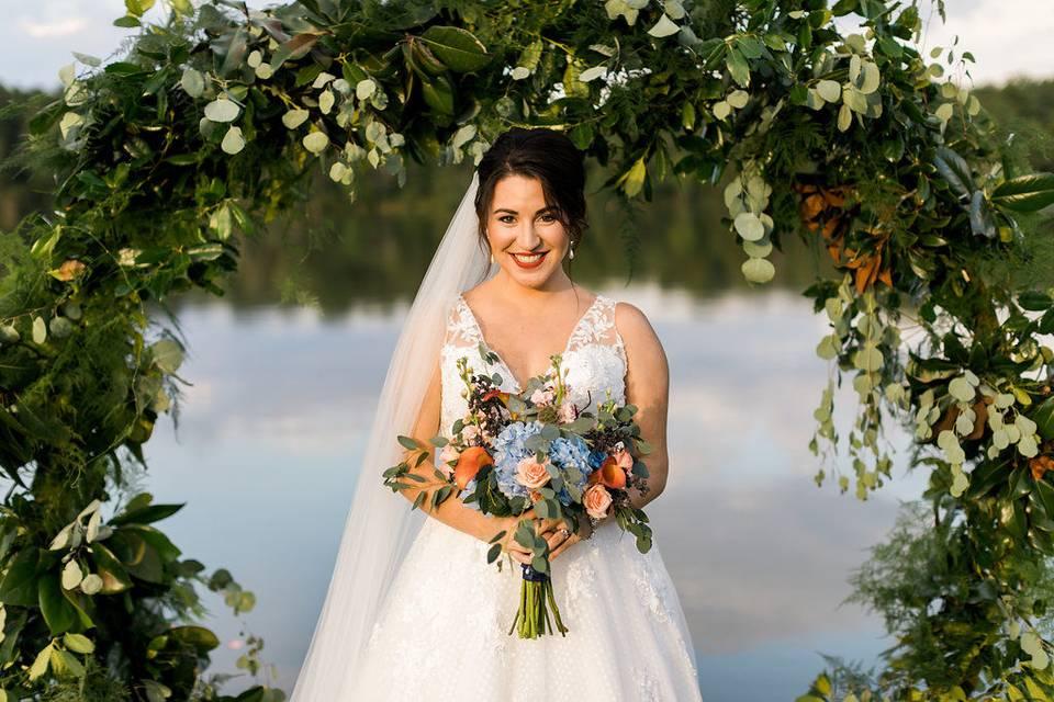 Waterfront bride