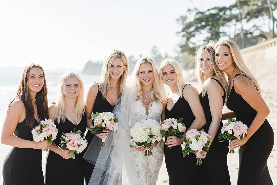 The wedding party - Waller Weddings