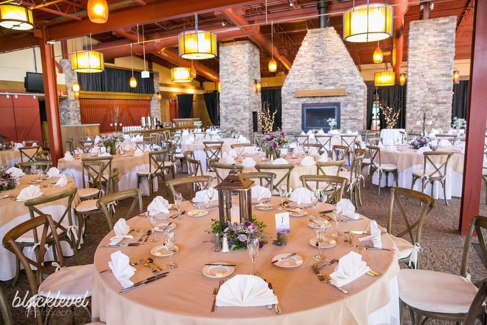 Rustic and refined reception