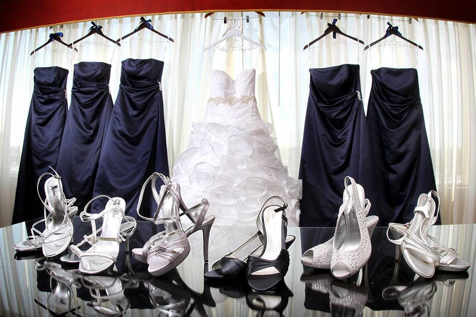 The wedding attire