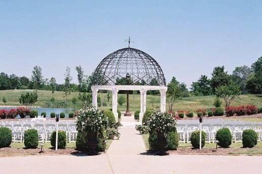Lakeside gazebo ceremony site