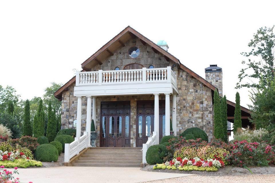 Reception Lodge stain windows