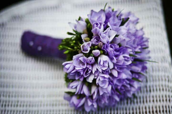Delicate purple bouquet