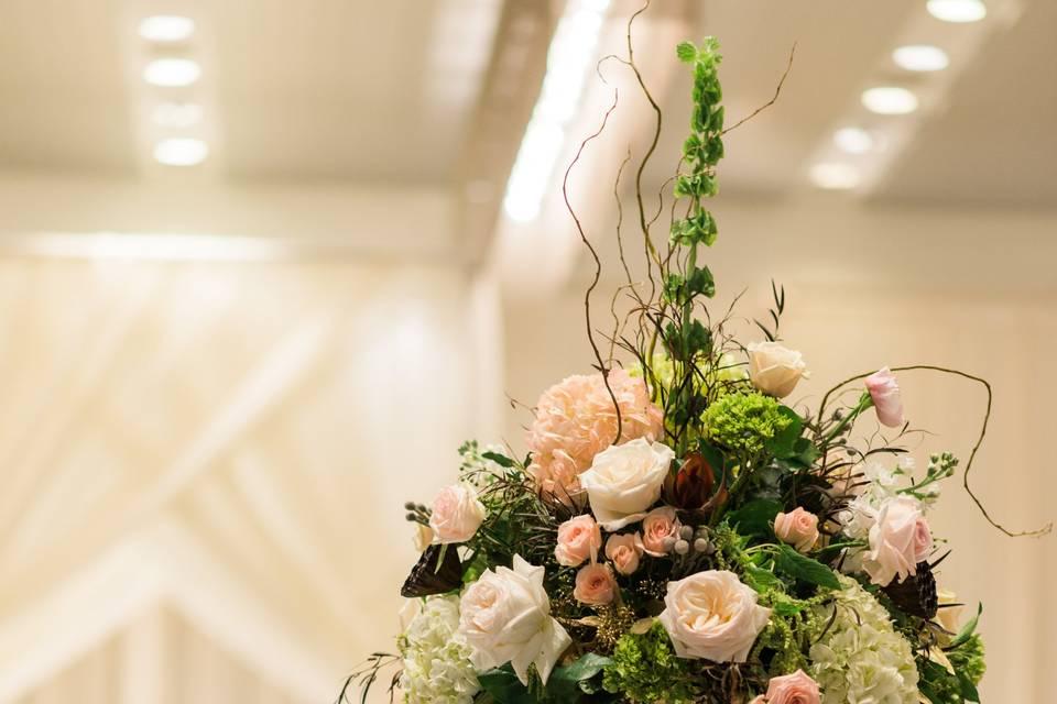Floral aisle decor