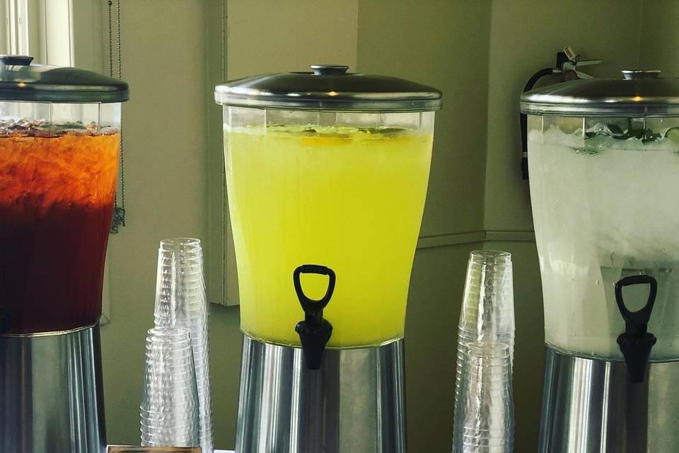 Tea, Lemonade, Water Station