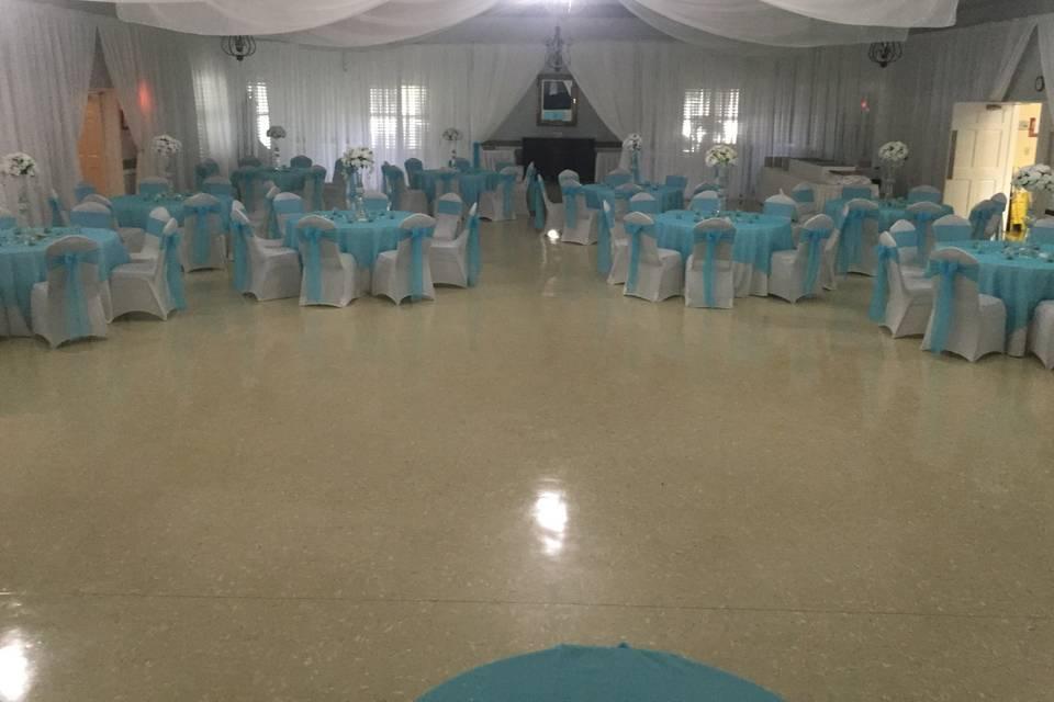 Impressive dance floor
