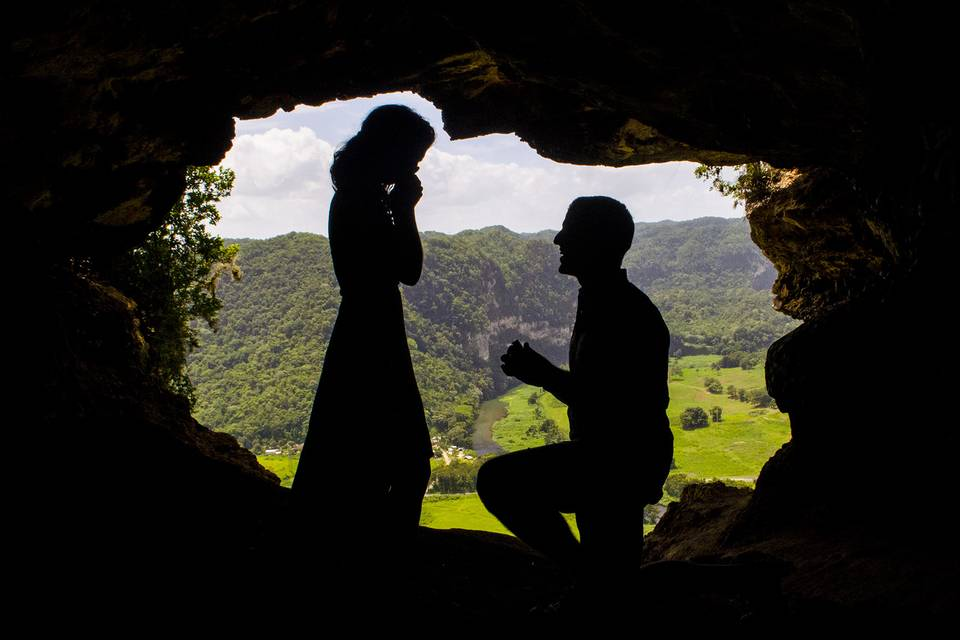 Surprise Proposal in a cave