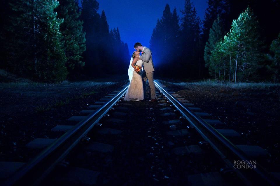 Train tracks kiss