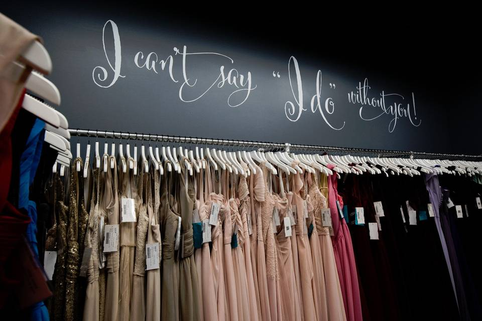 Additional bridesmaids' dresses
