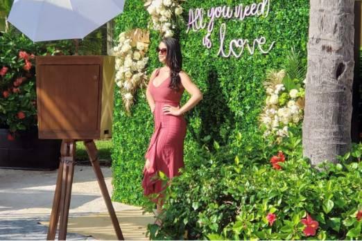 Natural photo booth greenery
