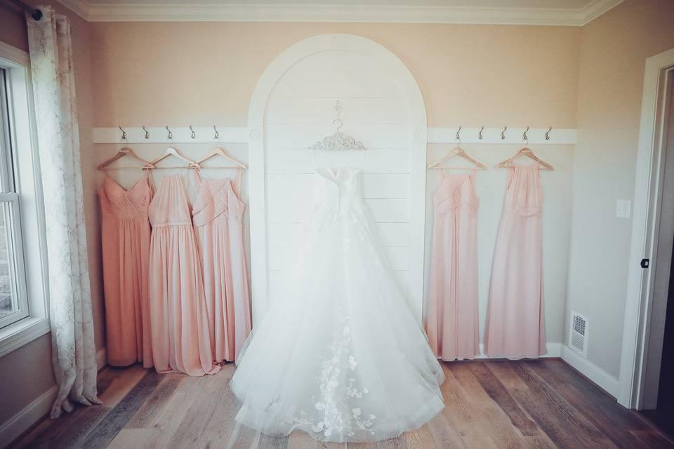 Pre wedding bride and dress