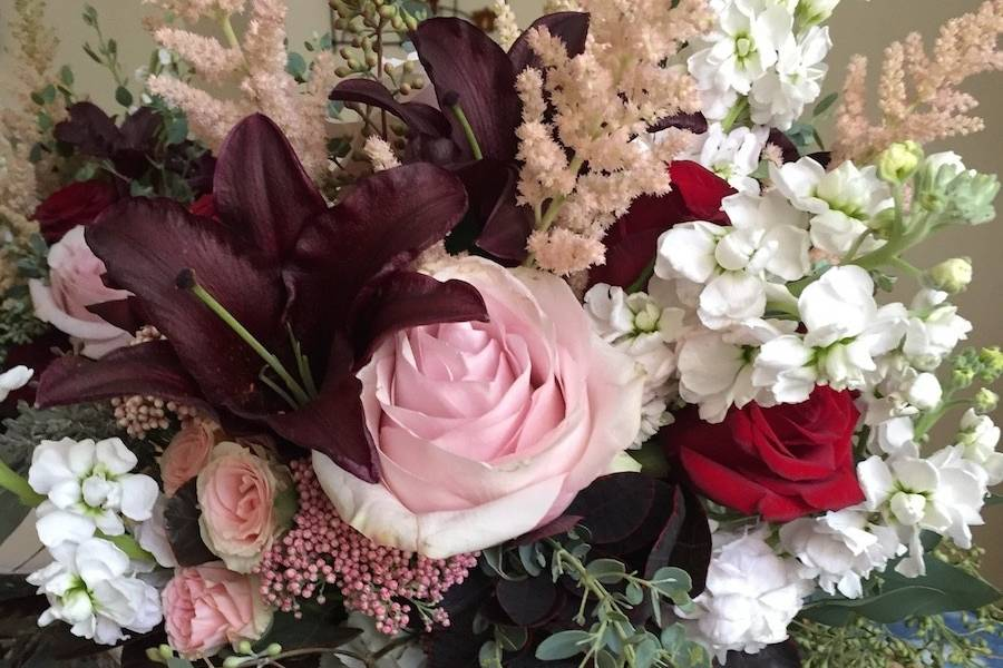 Beautiful roses and flowers