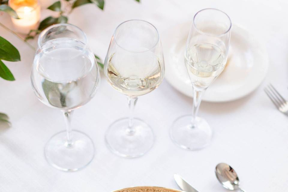 Elegant reception menu