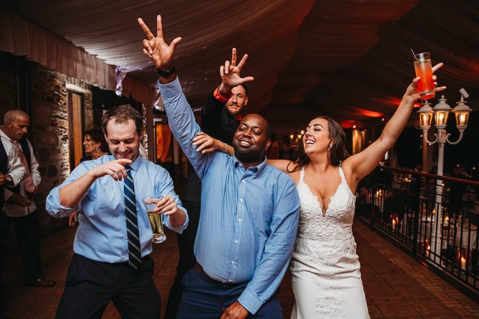 Hands Up Kelly Wedding