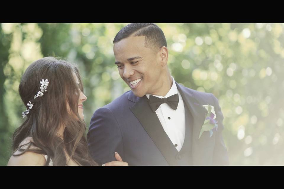 Smiling at his Bride