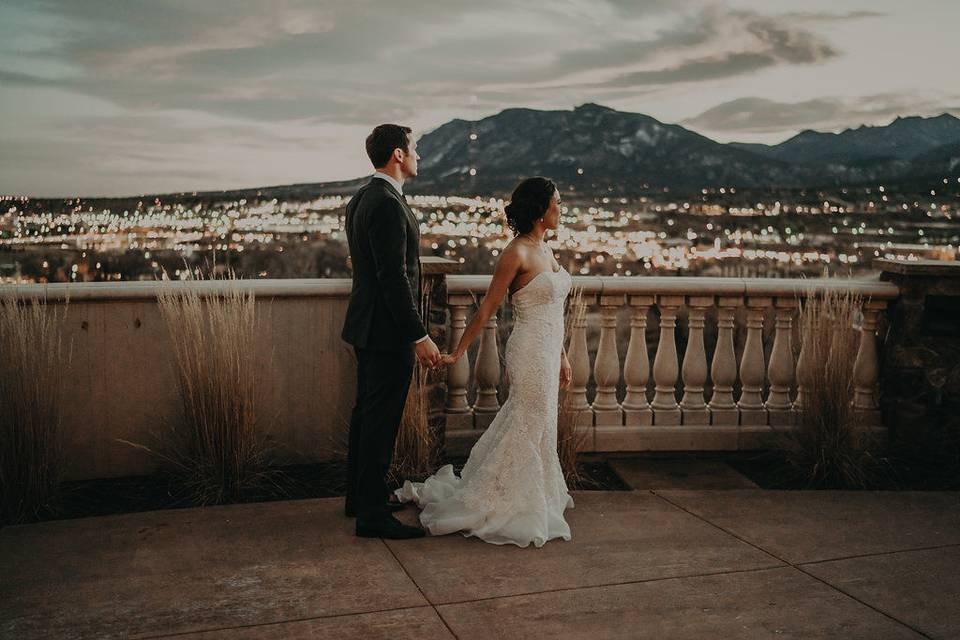 Couple by the scenic view