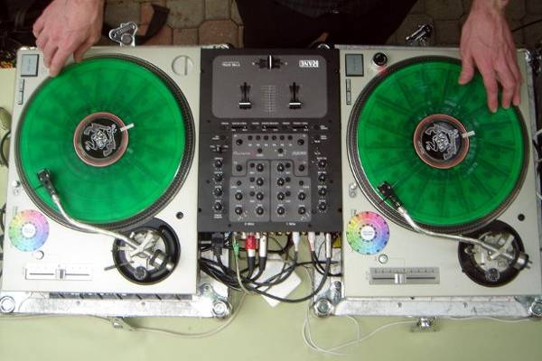 The turntables... best way to listen to music.