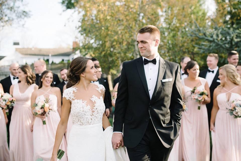 Bride, Groom & Bridesmaids